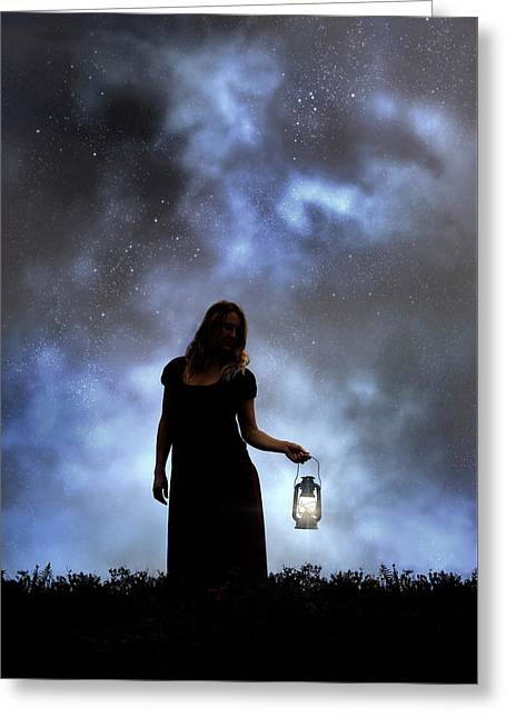 Never Alone In The Dark Greeting Card by Joana Kruse