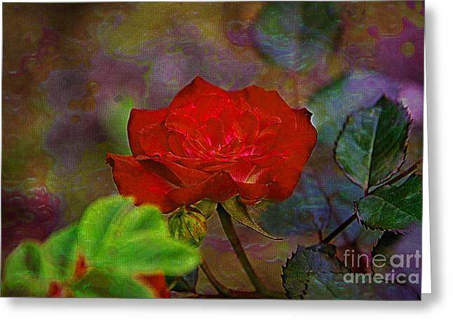 Never Alone Greeting Cards - Never Alone Rose  Greeting Card by Vickie Emms