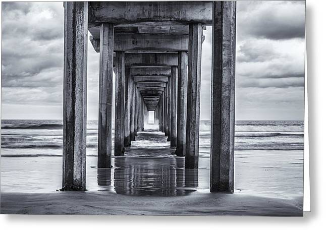 Pier Pilings Greeting Cards - Never Ending Greeting Card by Joseph S Giacalone