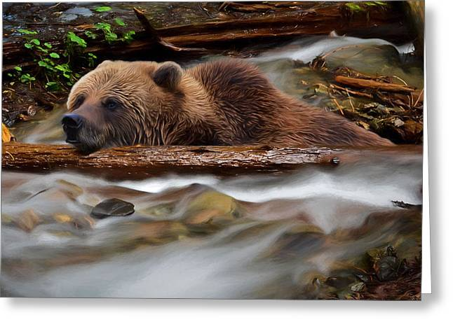 Never Give Up - Wilderness Art Greeting Card by Jordan Blackstone