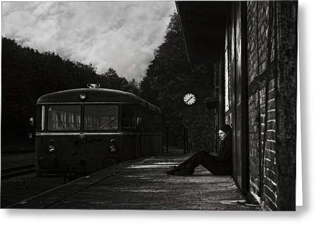 Loneliness Greeting Cards - Never Nowhere Greeting Card by Christoph Hessel