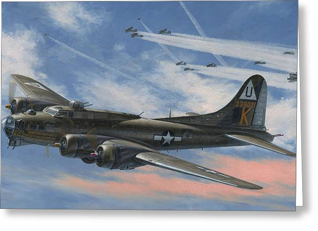 Boeing Greeting Cards - Never Turned Back Greeting Card by Wade Meyers