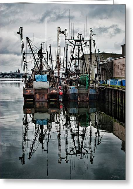 Warm Tones Greeting Cards - New Bedford Waterfront No. 1 - Color Greeting Card by David Gordon