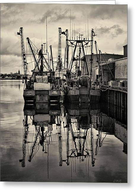 Warm Tones Greeting Cards - New Bedford Waterfront No. 1 Greeting Card by David Gordon
