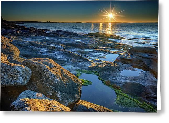 New Beginnings On Muscongus Bay Greeting Card by Rick Berk