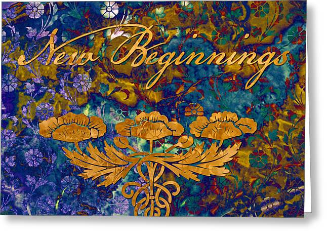 New Beginnings Greeting Card by Susan Ragsdale