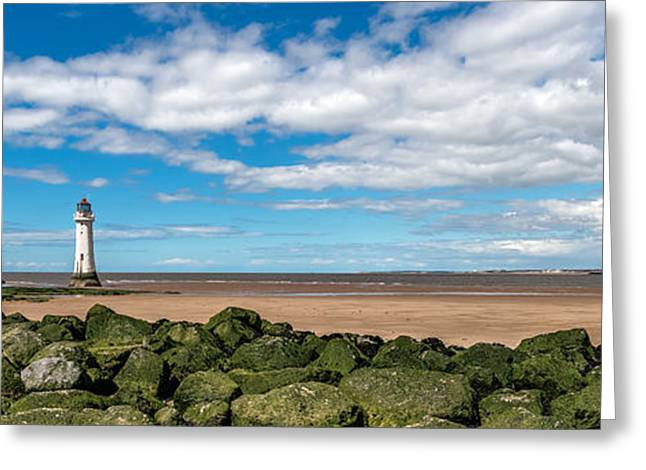 Moss Greeting Cards - New Brighton Lighthouse  Greeting Card by Adrian Evans
