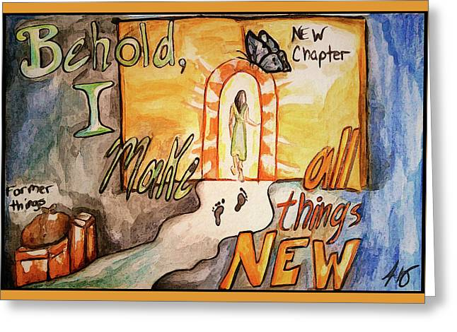 New Chapter Greeting Card by Jennifer Page