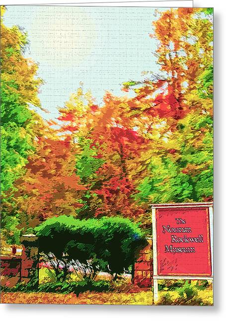 Breezy Digital Greeting Cards - New England - Norman Rockwell Museum Greeting Card by Steve Ohlsen