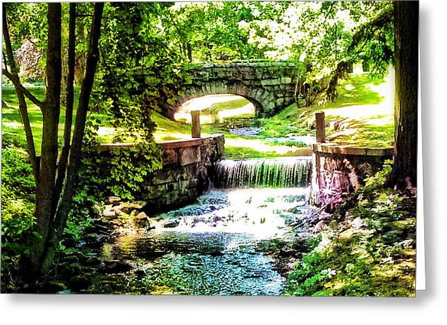 Stream Digital Greeting Cards - New England Serenity Greeting Card by Kathy Kelly