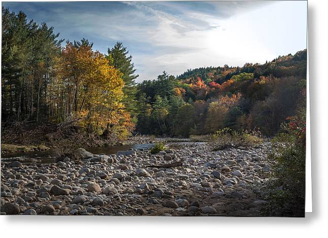 Rocks Greeting Cards - New England Fall Greeting Card by Rick Mosher