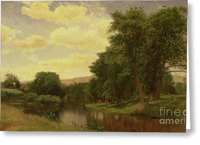 Connecticut Greeting Cards - New England Landscape Greeting Card by Aaron Draper Shattuck
