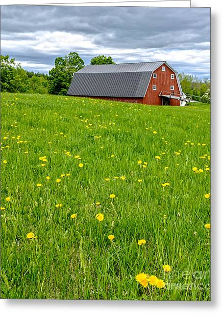 New Hampshire Greeting Cards - New England Landscape Greeting Card by Edward Fielding