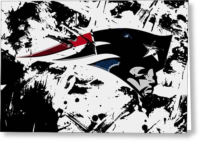 New England Patriots 1d Greeting Card by Brian Reaves
