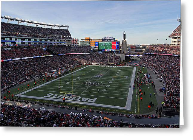 New England Patriots Greeting Card by Juergen Roth