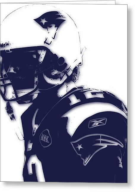 New England Patriots Greeting Cards - New England Patriots Tom Brady 4 Greeting Card by Joe Hamilton