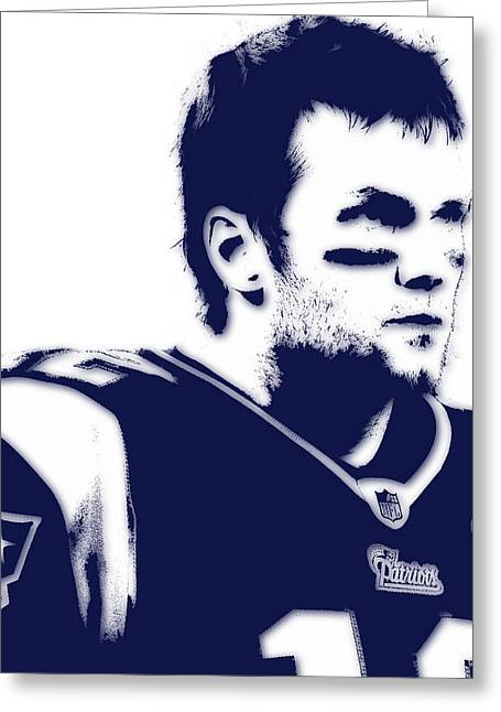 New England Patriots Greeting Cards - New England Patriots Tom Brady 5 Greeting Card by Joe Hamilton