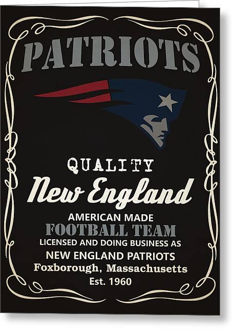 New England Patriots Whiskey Greeting Card by Joe Hamilton