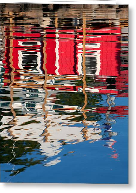 Stormy Weather Greeting Cards - New England Reflections  Greeting Card by Emmanuel Panagiotakis