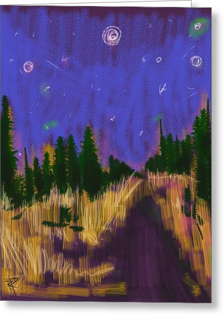 New England Starry Night Greeting Card by Russell Pierce