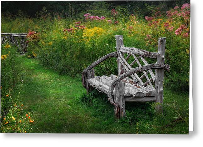 Lawn Chair Greeting Cards - New England Summer Rustic Greeting Card by Bill Wakeley