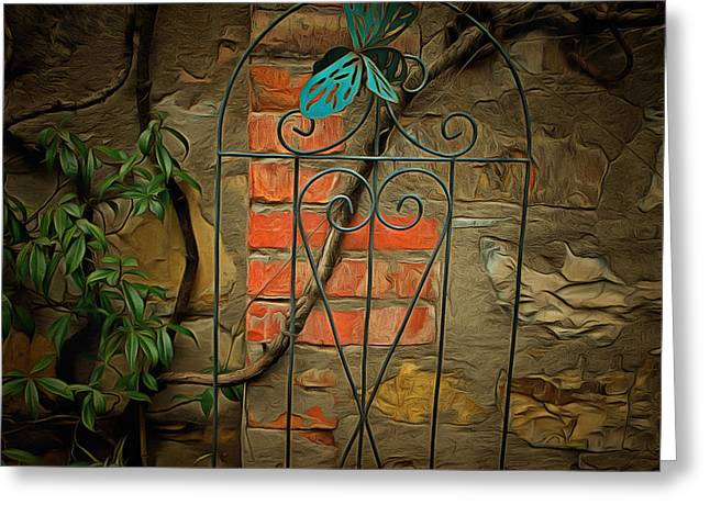 Trellis Greeting Cards - New for Old Greeting Card by Dorothy Berry-Lound