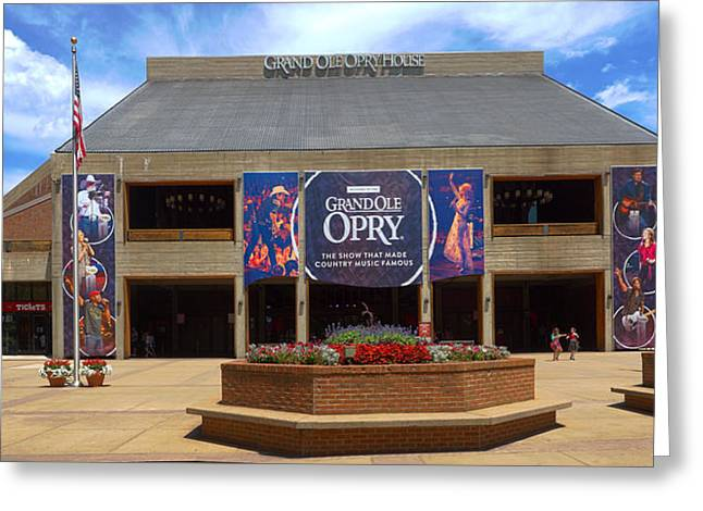 Nashville Tennessee Greeting Cards - New Grand Ole Opry House Greeting Card by C H Apperson