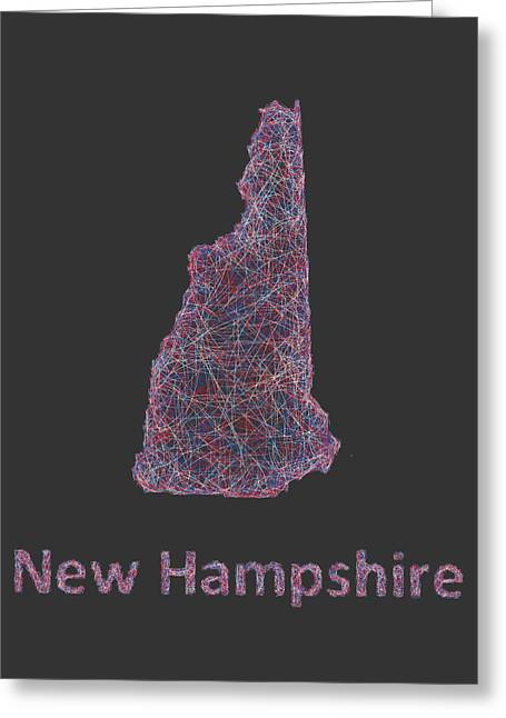 Concord Greeting Cards - New Hampshire map Greeting Card by David Zydd