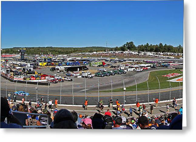 New Hampshire Motor Speedway Greeting Card by Juergen Roth