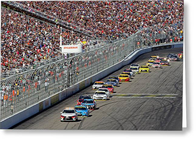 New Hampshire Motor Speedway Pace Car Greeting Card by Juergen Roth