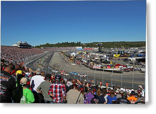 New Hampshire Motor Speedway Safety Car Greeting Card by Juergen Roth