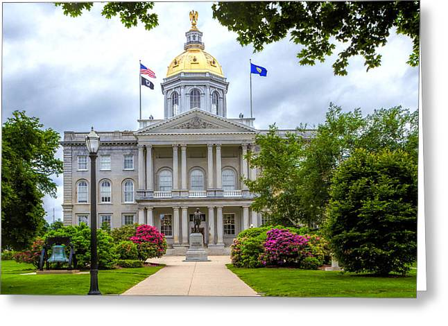 Concord Greeting Cards - New Hampshire State House. Greeting Card by Larry  Richardson