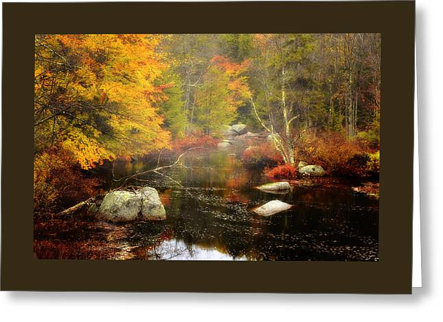 New Hampshire Wilderness-autumn Scenic Greeting Card by Thomas Schoeller