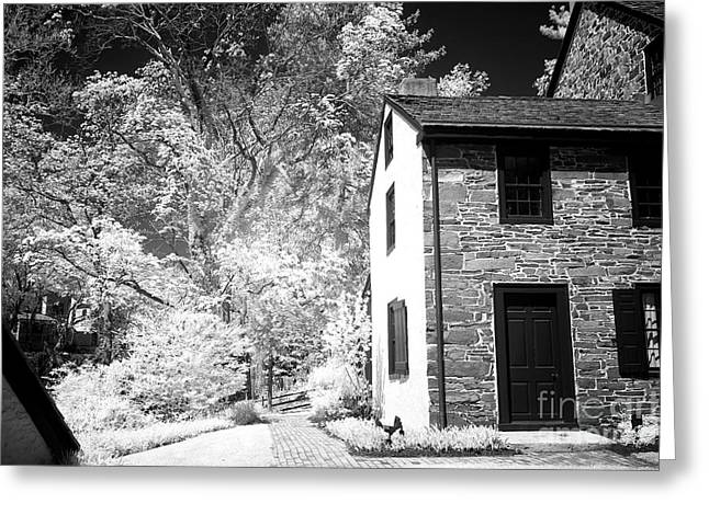 Stone House Greeting Cards - New Hope Shadows Greeting Card by John Rizzuto