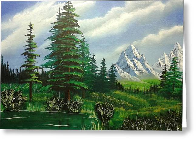 Bob Ross Paintings Greeting Cards - New Horizons Greeting Card by Christopher Soeters