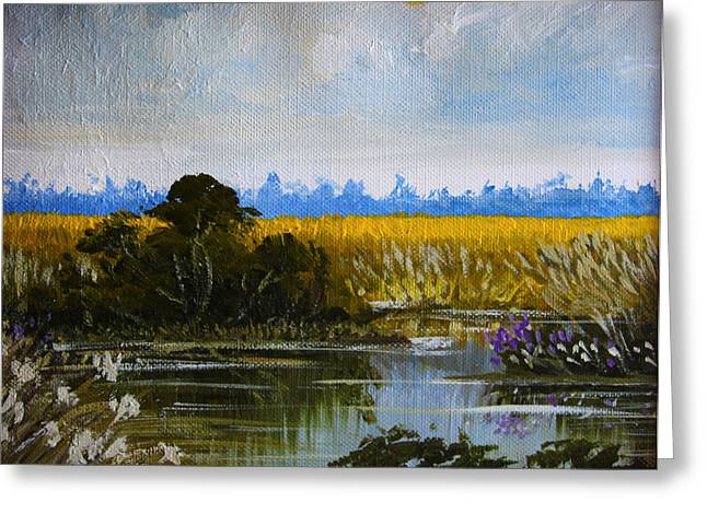 New Jersey Marsh Greeting Card by Karon Melillo DeVega