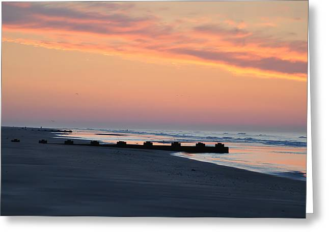 Wildwood Greeting Cards - New Jersey Morning Greeting Card by Bill Cannon