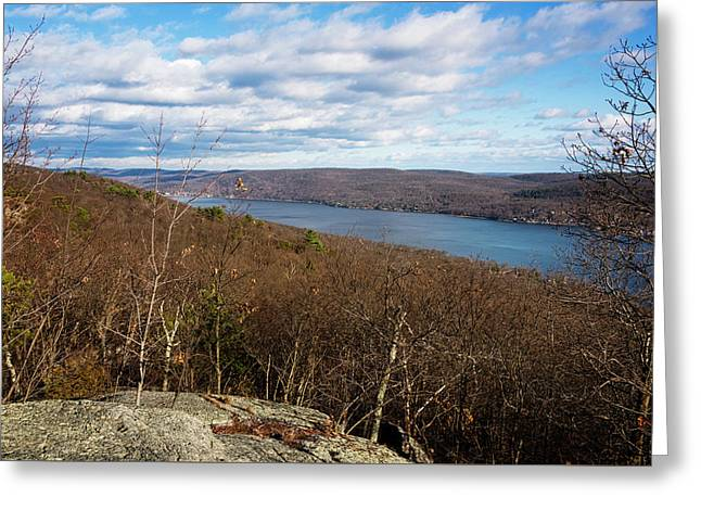 New Jersey Mountaintop View Greeting Card by Joan Carroll