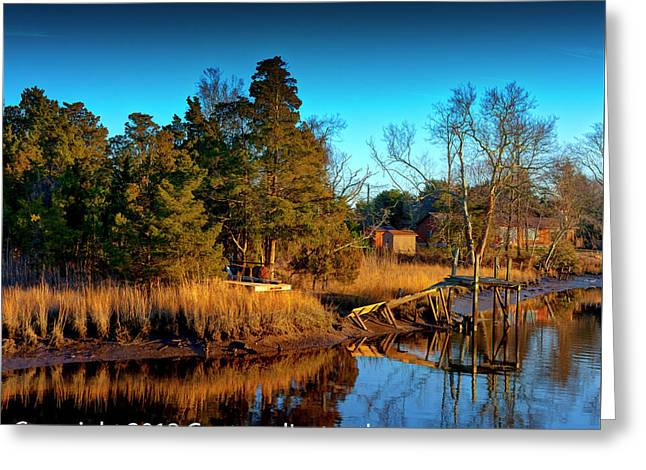 New Jersey River Bank Greeting Card by Kevin Hill