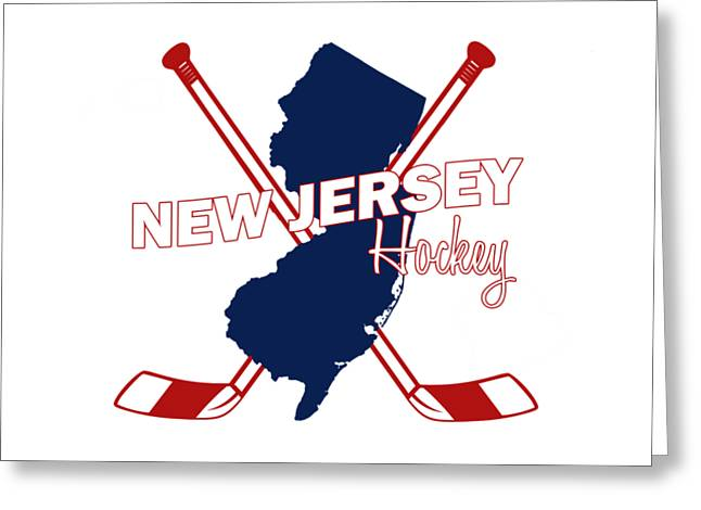 New Jersey State Hockey Greeting Card by Summer Myers