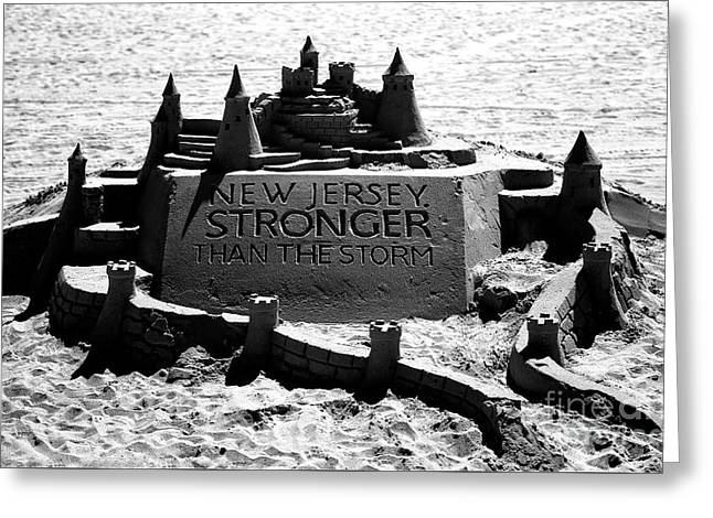 New Jersey Stronger Than Storm Greeting Card by John Rizzuto