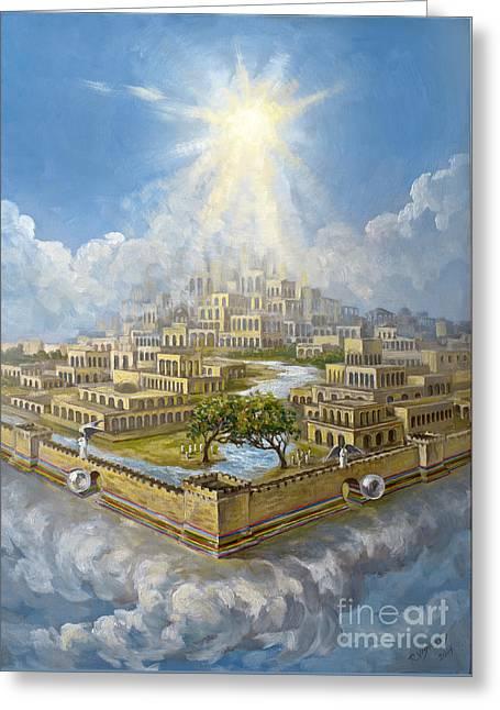 Eternity New Jerusalem Greeting Card by The Decree to Restore Jerusalem