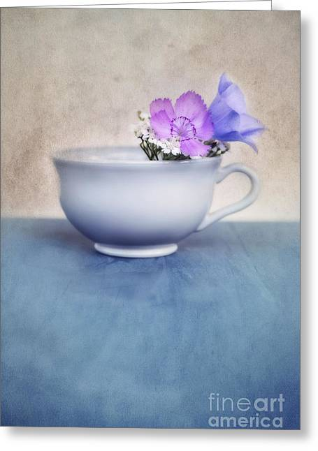 Tabletop Greeting Cards - New Life For An Old Coffee Cup Greeting Card by Priska Wettstein