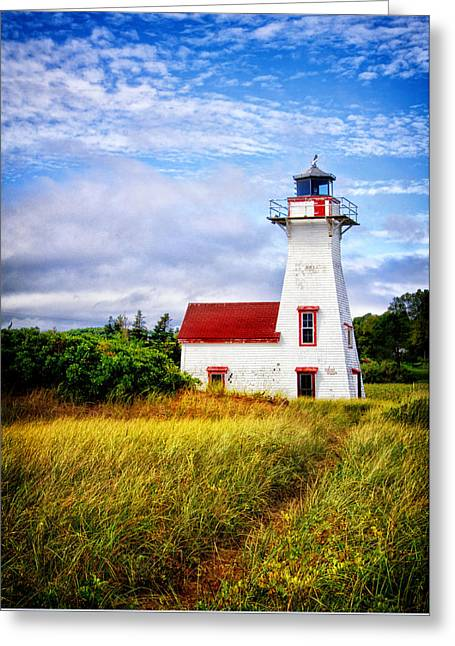 Princes Greeting Cards - New London Lighthouse Greeting Card by Carolyn Derstine