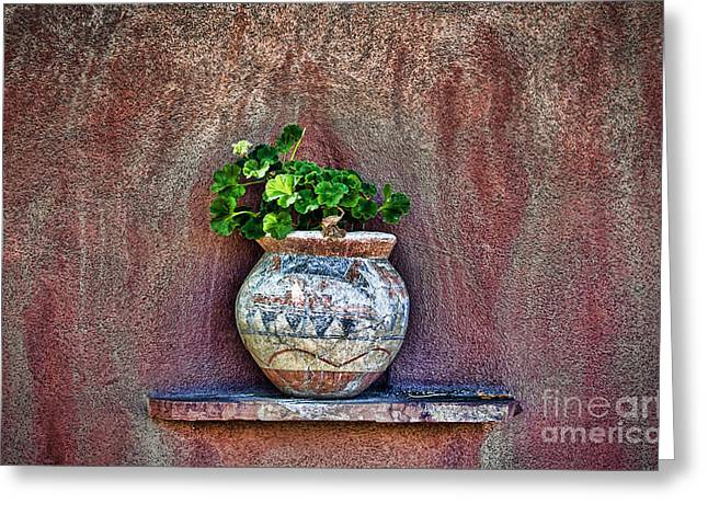 Adobe Greeting Cards - New Mexican Wall Sconces Greeting Card by Ray Laskowitz - Printscapes