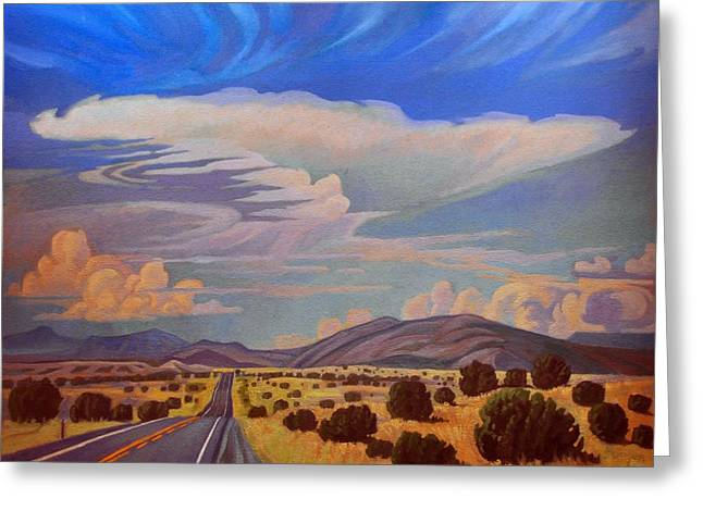 Infinite Distance Greeting Cards - New Mexico Cloud Patterns Greeting Card by Art James West