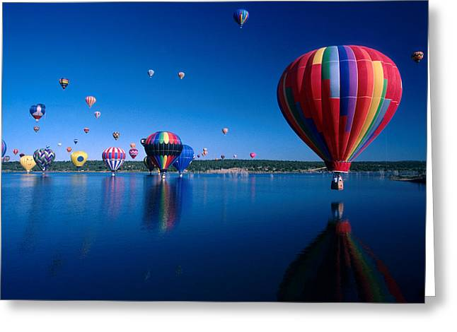 Jerry Mcelroy Greeting Cards - New Mexico Hot Air Balloons Greeting Card by Jerry McElroy