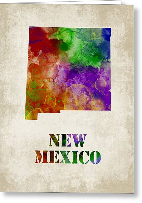 Grunge Greeting Cards - New Mexico Greeting Card by Mihaela Pater