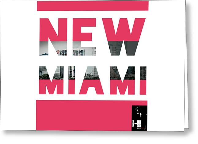 Miami Tapestries - Textiles Greeting Cards - New Miami  Greeting Card by HI Level