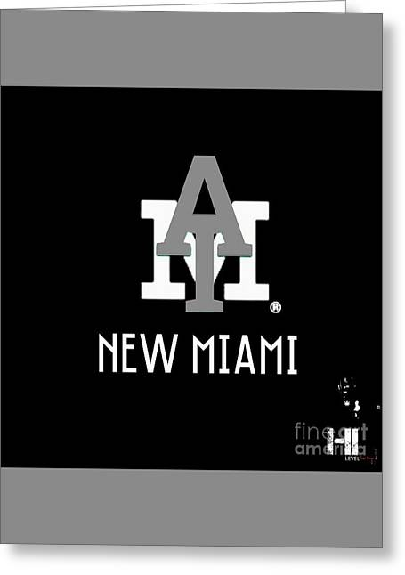 Miami Tapestries - Textiles Greeting Cards - New Miami Smoke Greeting Card by HI Level